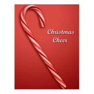 Bastón de caramelo del navidad postal