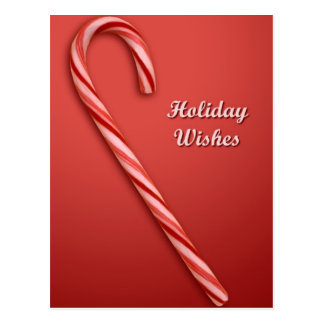 Bastón de caramelo del navidad postales