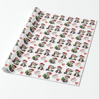 Bastón de caramelo del oso de panda personalizado papel de regalo