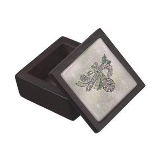 Bastón de caramelo del vitral cajas de joyas de calidad