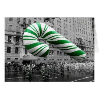Bastón de caramelo en desfile felicitaciones