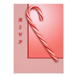 """Bastón de caramelo invitación 5"""" x 7"""""""