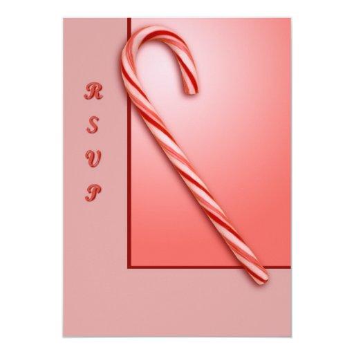 Bastón de caramelo invitacion personalizada