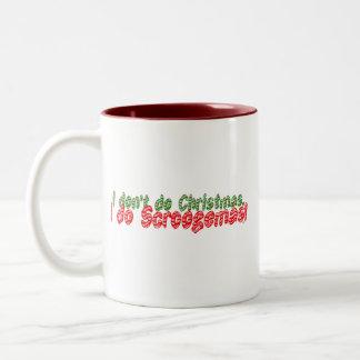 Bastón de caramelo no hago navidad tazas de café