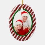 Bastón de caramelo ornamento para arbol de navidad