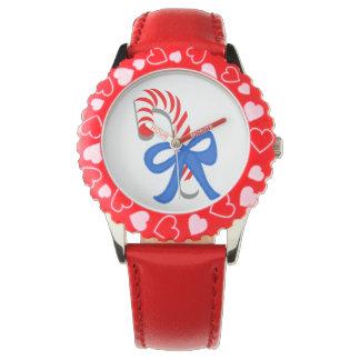 Bastón de caramelo relojes de mano