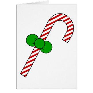 bastón de caramelo tarjeta de felicitación