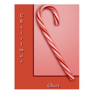 Bastón de caramelo tarjeta postal