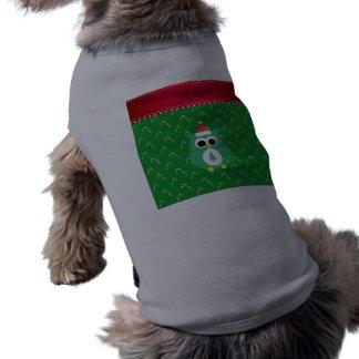 Bastón de caramelo verde conocido personalizado camisa de perro