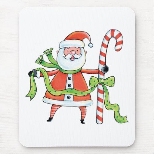 Bastón de Papá Noel y de caramelo Alfombrilla De Ratones