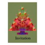 Bastón del Árbol-Caramelo del navidad Invitaciones Personales