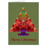 Bastón del Árbol-Caramelo del navidad Tarjeton