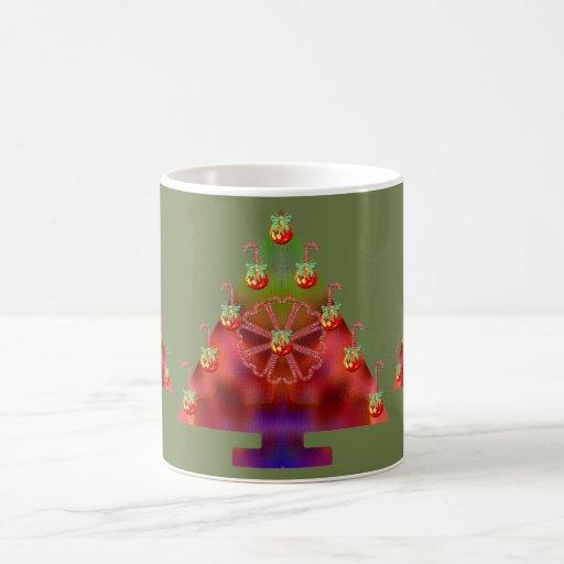 Bastón del Árbol-Caramelo del navidad Tazas