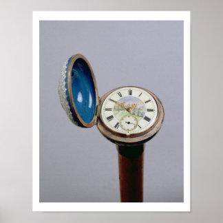 Bastón del artilugio del reloj (esmalte del cloiso póster
