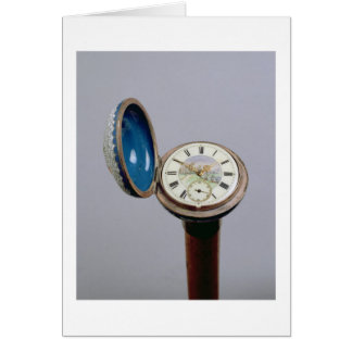 Bastón del artilugio del reloj (esmalte del cloiso tarjeta de felicitación