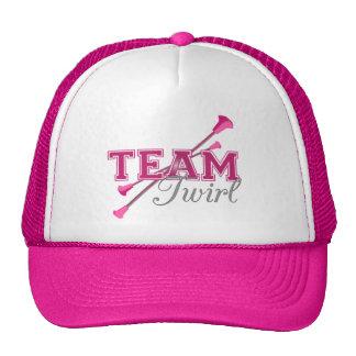 Bastón del giro del equipo gorras