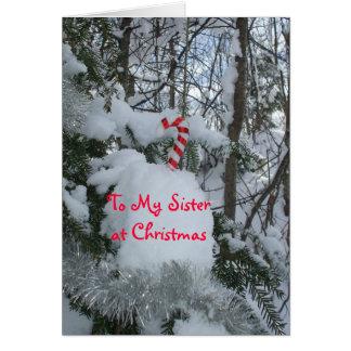Bastón del Navidad-Caramelo de la hermana Tarjeta De Felicitación