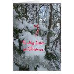 Bastón del Navidad-Caramelo de la hermana Tarjeton