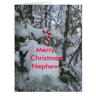 Bastón del Sobrino-Caramelo de las Felices Navidad Tarjeta De Felicitación Grande