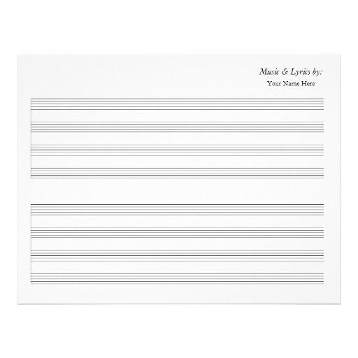 Bastón en blanco de la partitura 4 solo membrete