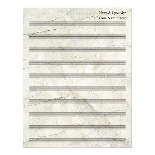 Bastón en blanco de papel arrugado vintage de la p membrete