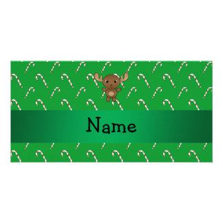 Bastones de caramelo conocidos personalizados del  tarjeta fotográfica personalizada