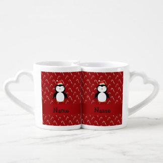 Bastones de caramelo conocidos personalizados del taza para parejas