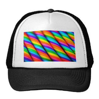 Bastones de caramelo del arco iris 2 gorras de camionero