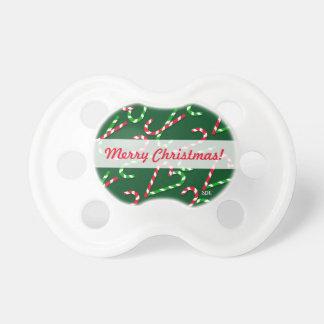 Bastones de caramelo del día de fiesta del navidad chupetes de bebe