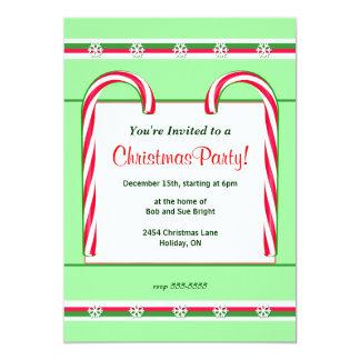 """Bastones de caramelo del navidad invitación 5"""" x 7"""""""