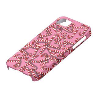 Bastones de caramelo en el caso de encargo del iPhone 5 carcasa