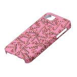 Bastones de caramelo en el caso de encargo del iph iPhone 5 Case-Mate carcasa