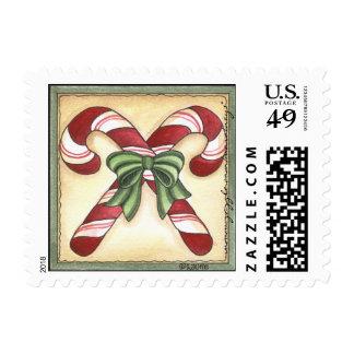 Bastones de caramelo - franqueo sellos postales