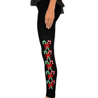 Bastones de caramelo leggings