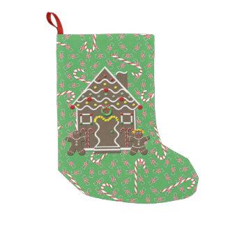 Bastones de caramelo lindos del navidad de la casa calcetín de navidad pequeño