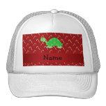 Bastones de caramelo rojos personalizados de la to gorras