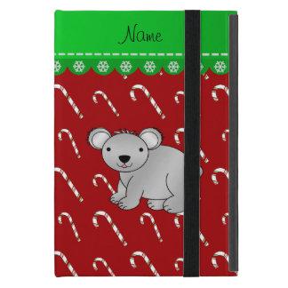 Bastones de caramelo rojos personalizados del iPad mini protectores