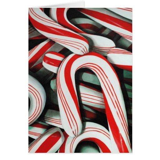 Bastones de caramelo tarjeta de felicitación