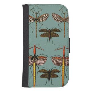 Bastones, Katydids y libélulas Billetera Para Teléfono