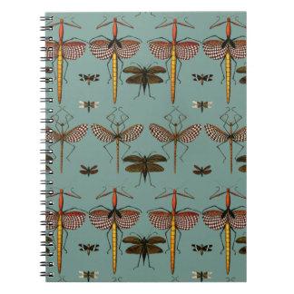 Bastones, Katydids y libélulas Libreta Espiral