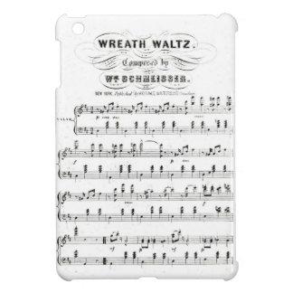 Bastones retros de las notas de la partitura vals iPad mini cárcasas