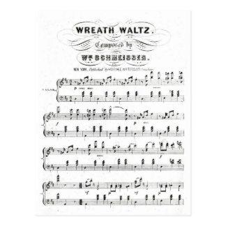 Bastones retros de las notas de la partitura (vals postal