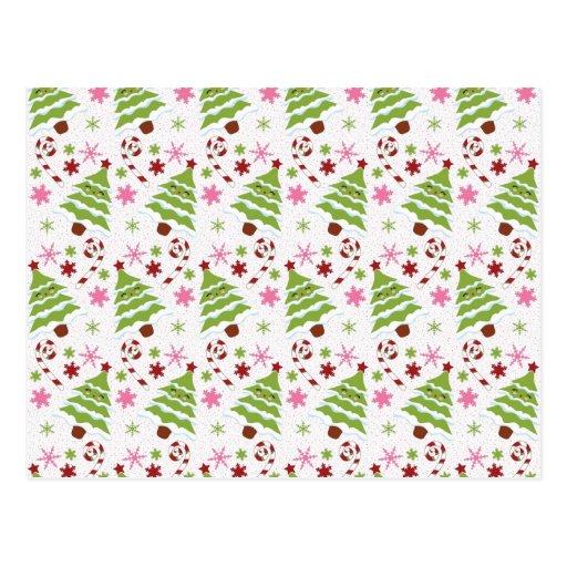 Bastones rosados y verdes de la diversión del árbo postal