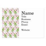 Bastones rosados y verdes de la diversión del árbo tarjeta de negocio