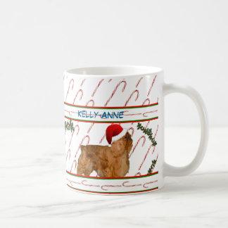Bastones y perros de aguas de caramelo taza