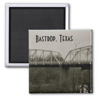 Bastrop, Texas Old Iron Bridge Square Magnet