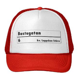 Bastugatan, Stockholm, Swedish Street Sign Trucker Hat