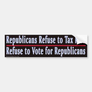 Basura 1 de los republicanos pegatina para auto
