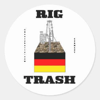 Basura alemana del aparejo, pegatina de la basura