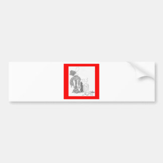 basura etiqueta de parachoque